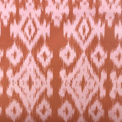 Ikat POPLIN, Pink Rust