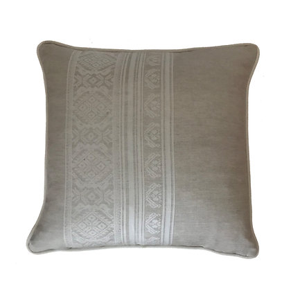 Hungarica  Piped Cushion in Natural