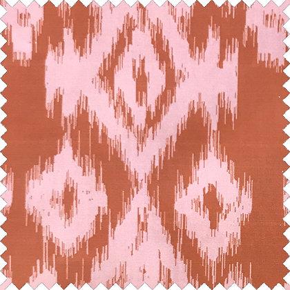 Swatch of Ikat POPLIN,  Pink Rust
