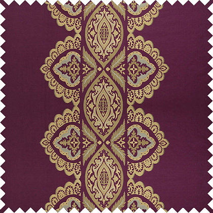 Swatch of India Silk Fabric, Gulaabee / Gold