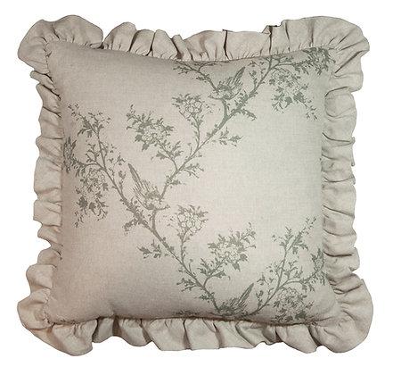 Victorian Tale Ruffled Cushion in Saunter