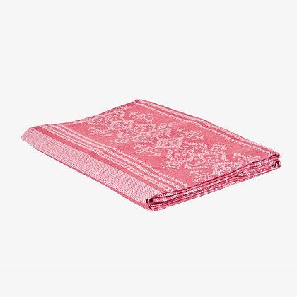 Nostalgia Tablecloth, Cranberry / White