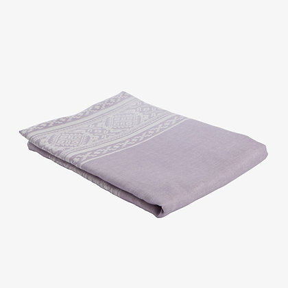 Hungarica Tablecloth, Lavender / White, 100% Linen