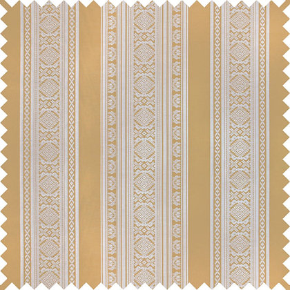Swatch of Hungarica Viscose Blend Fabric, Brass / Marble (reversible)