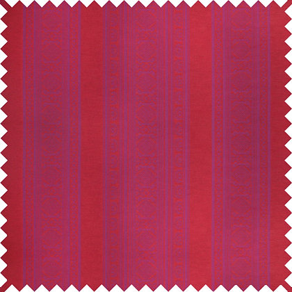 Swatch of Hungarica Viscose Blend Fabric, Fuchsia / Red (reversible)