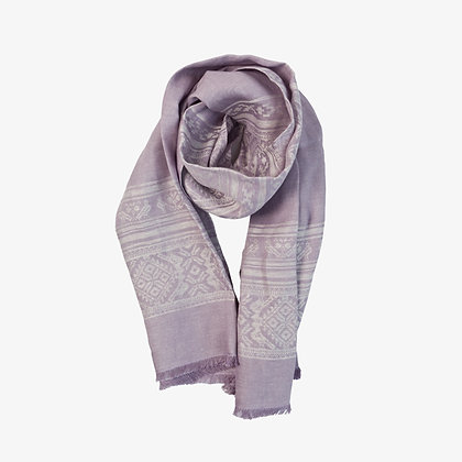 Hungarica Womens Linen Scarf, Lavender / White