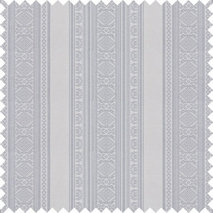 Swatch of Hungarica Fabric, Ecru / Gunmetal (reversible)