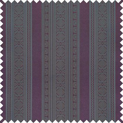 Swatch of Hungarica Viscose Blend Fabric, Sloe / Cobalt (reversible)