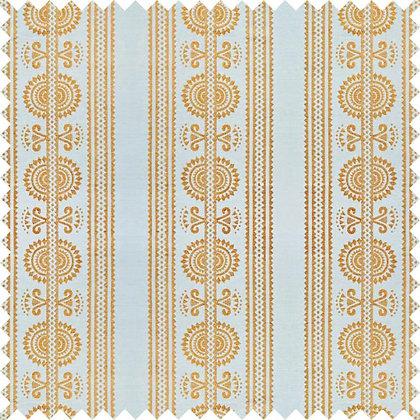 Swatch of Kurpie Fabric, Gold