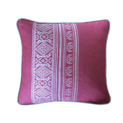 Hungarica Piped Cushion in Cranberry