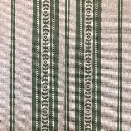 Memory Stripe Print, Green on Natural
