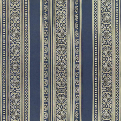 Hungarica Cotton Fabric, Budapest Blue / Gold (reversible)