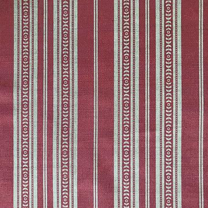 Memory Stripe Print, Natural on Red
