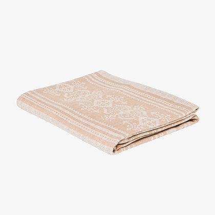 Nostalgia Tablecloth, Old Gold / White