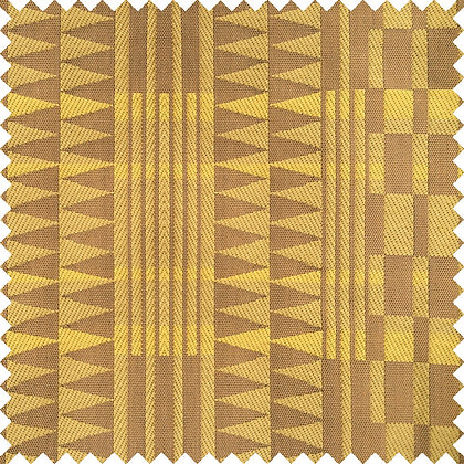 Swatch of Africana Upholstery Fabric, Kaharabu (Amber)