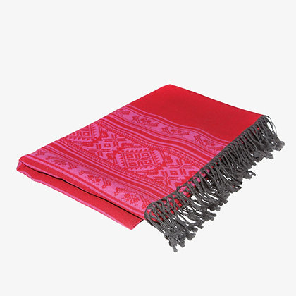 Hungarica Throw, Fuchsia / Ruby