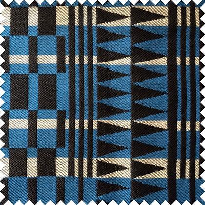 Swatch of Africana Upholstery Fabric, Samawati