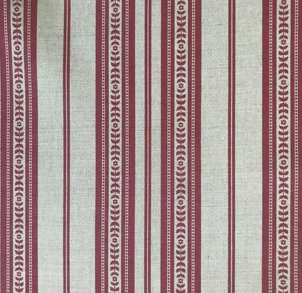 Memory Stripe Print, Red on Natural