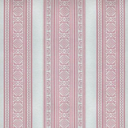 Hungarica Fabric, Ecru / Petal (reversible)