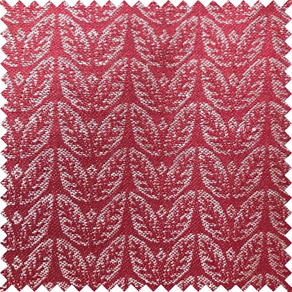 Swatch of Memory Leaf Fabric, Red