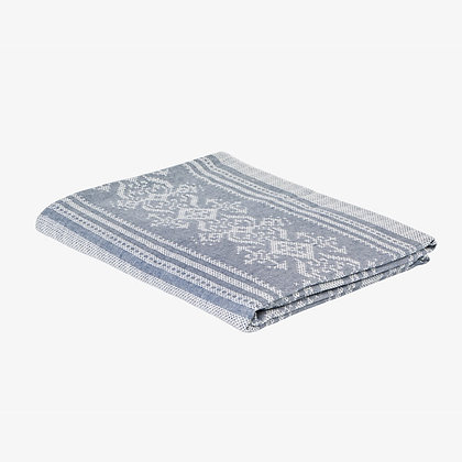 Nostalgia Tablecloth, Blue / White