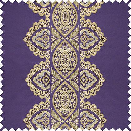 Swatch of India Silk Fabric, Bainganee / Gold
