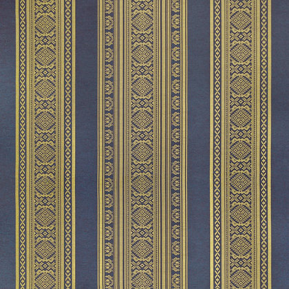 Hungarica Viscose Blend Fabric, Brass / Battleship (reversible)
