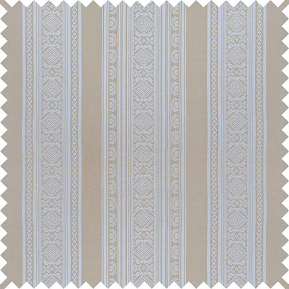 Swatch of Hungarica Cotton Fabric, Gold / White (reversible)
