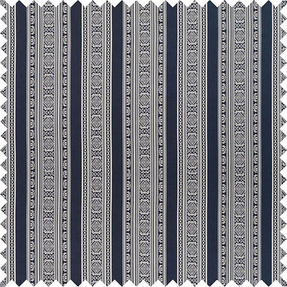 Swatch of Hungarica 100% Silk Fabric, Budapest Blue / White