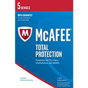 McAfee 2017 Total Protection - 5 Device (PC/Mac/Android)