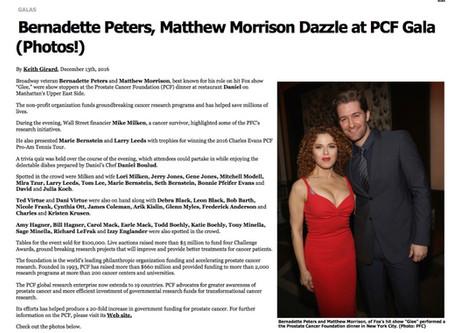 Bernadette Peters Matthew Morrison Dazzle at PCF Gala