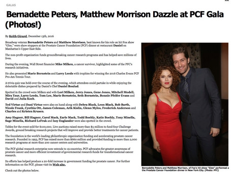 Bernadette Peters Matthew Morrison Dazzle at PCF Gala