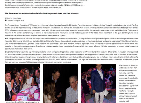 Prostate Cancer Foundation: Gala in the Hamptons