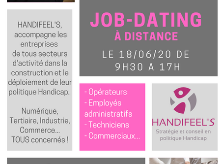 Job-dating à distance le 18/06!