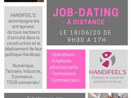 Job-dating à distance le 18/06!