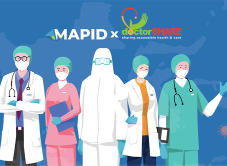 Through collaboration with doctorSHARE, MAPID helps Indonesia fight COVID 19 with MAPS!