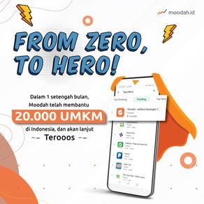 Moodah went from zero, to hero!