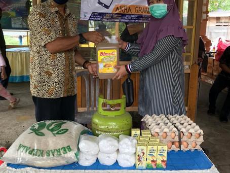 Duithape Distribusikan Bantuan E-voucher Sembako di Bone dan Serang