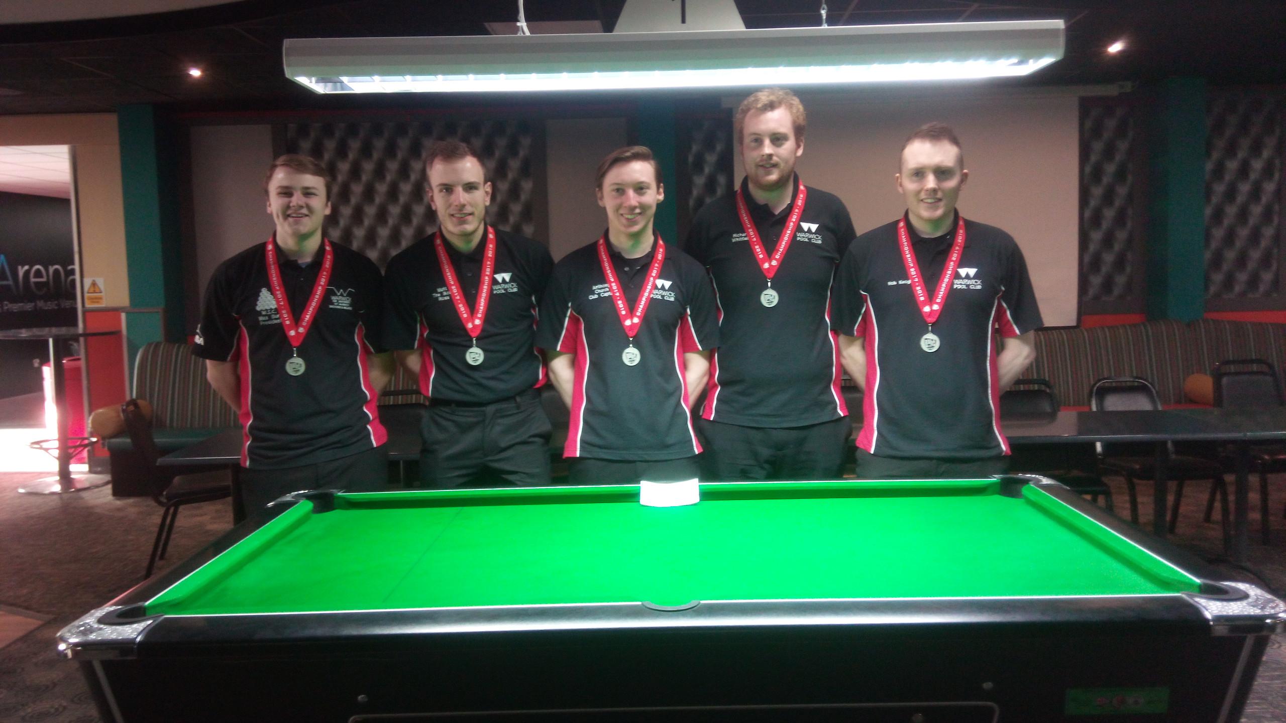 Warwick Pool Club BUCs 1st Team 2018