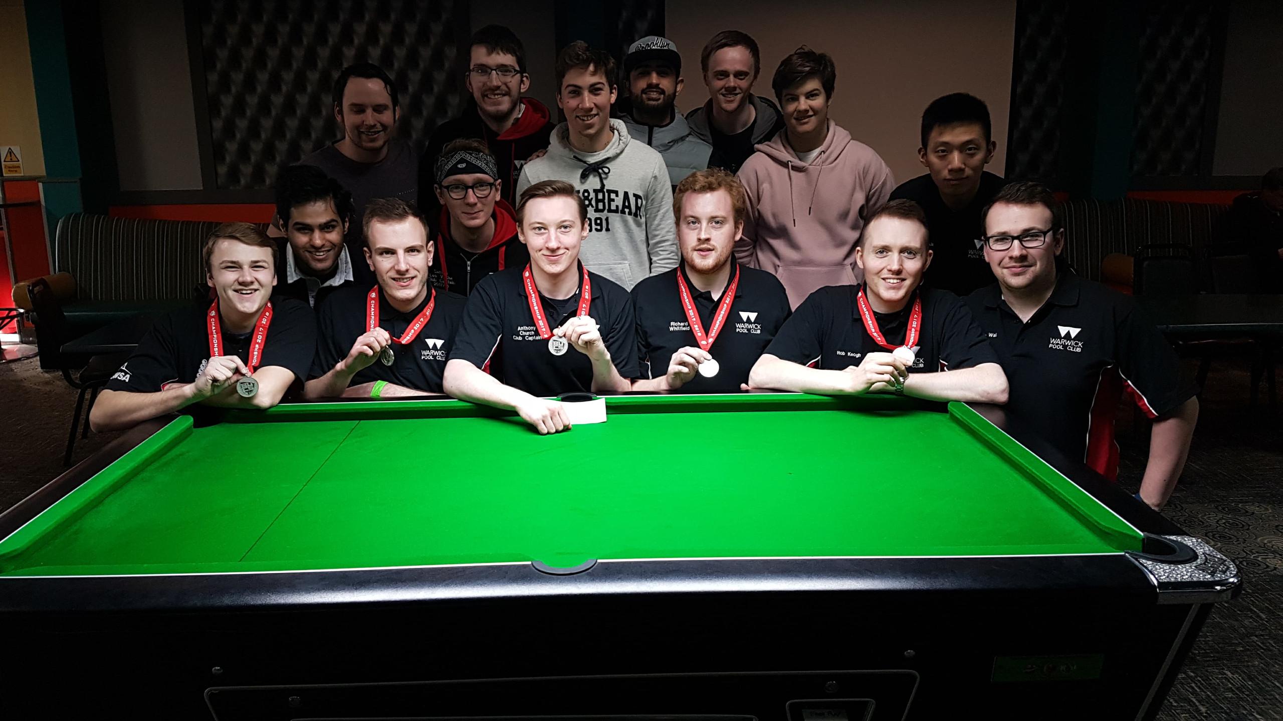 Warwick Pool Club BUCs Teams 2018