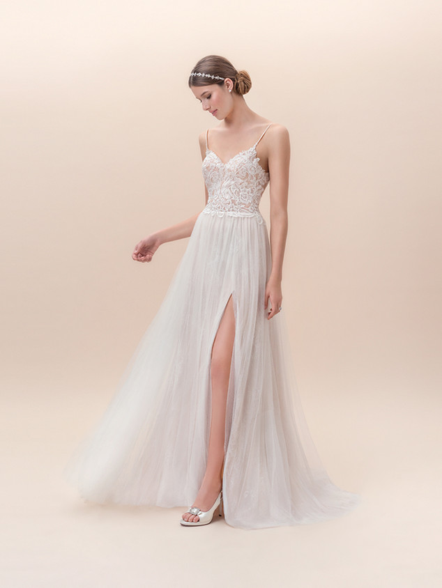 Available in Ivory/Taupe, Size 8 (Sample Sale Only)