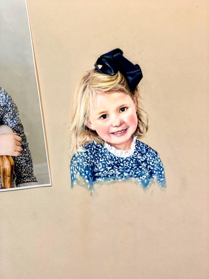 20x16 Pastel of Child $2,250