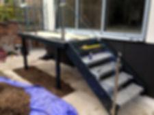 Didsbury Platform and steps installation