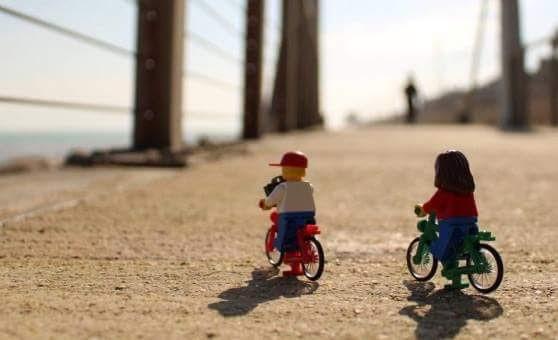 lego in bici