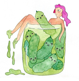 Bathing with Pickle Babes