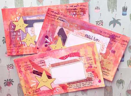 Messy Star Mail Art!