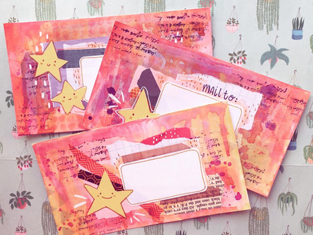 Messy Star Mail Art!