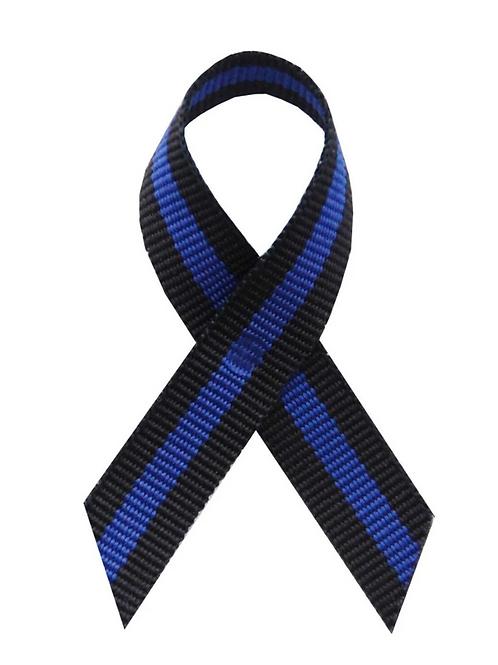 Thin Blue Line Awareness Lapel Ribbon