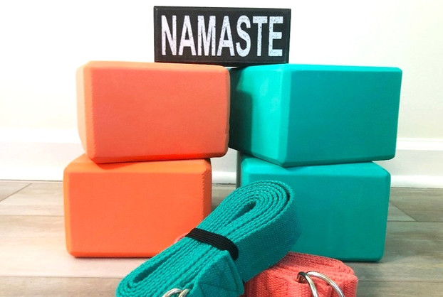 Yoga Blocks and Straps
