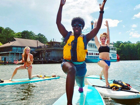 SUP Yoga at Lake Acworth Benefiting Project Zawadi